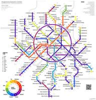 Зодиакальная схема московского метрополитена. Март 2017 года